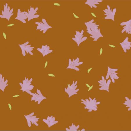 Fabric 24692 | lawenda-brązowa