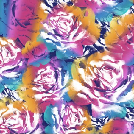 Fabric 24752 | Rainbow roses