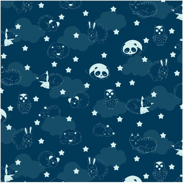 Fabric 2621 | sleeping animals