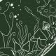 Fabric 24898 | Kosmiczne grzybki - zielony
