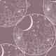 Fabric 24900   kosmiczne grzyby  - róż
