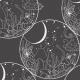 Fabric 24901   kosmieczne grzyby - szary