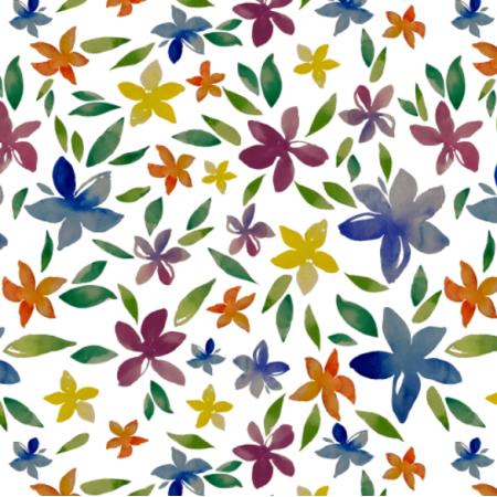 Fabric 24923 | Fiori acquarello 2