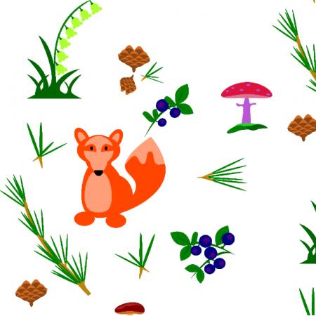 Fabric 24961 | w lesie