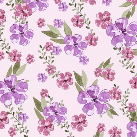 24975 | watercolor pink flowers