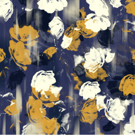 Fabric 24986 | flowers in the fog