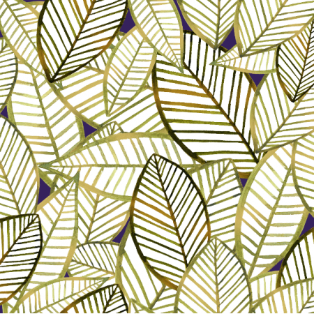 Fabric 25001 | WATERCOLOR Gold autumn leaves