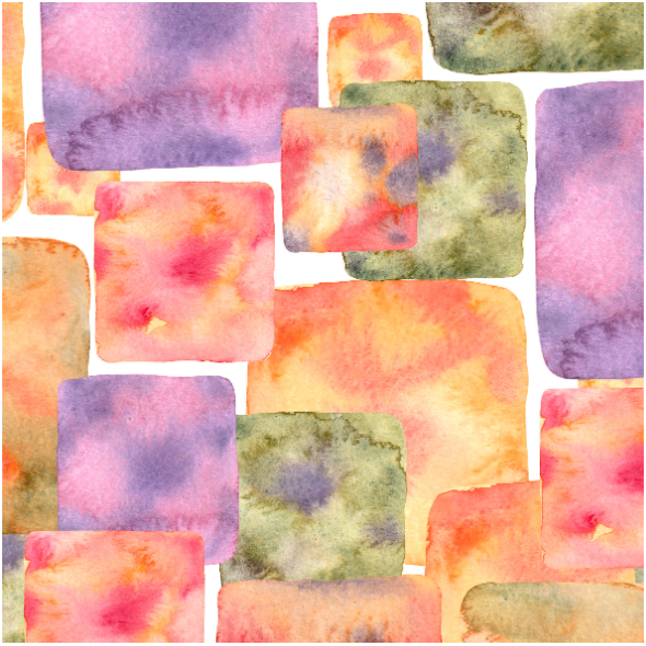 Tkanina 25097 | Watercolor square