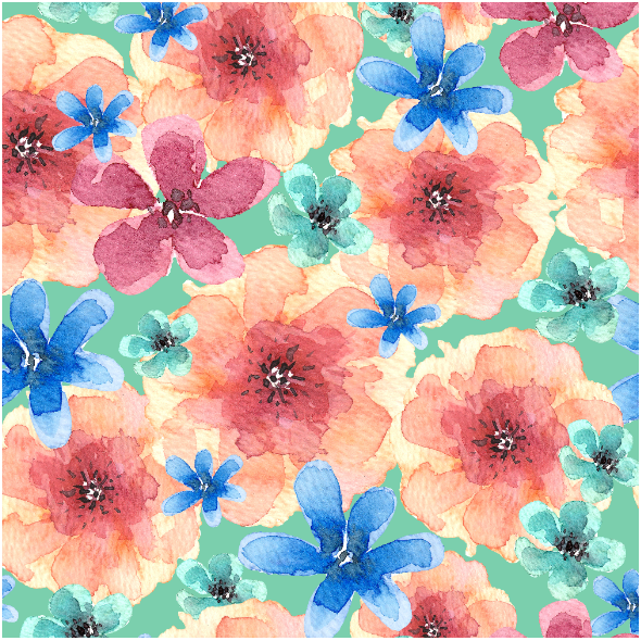 Fabric 25117 | watercolor bouquet of flowers