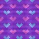 Tkanina 25130 | Sweterkowy wzór z serduszkami