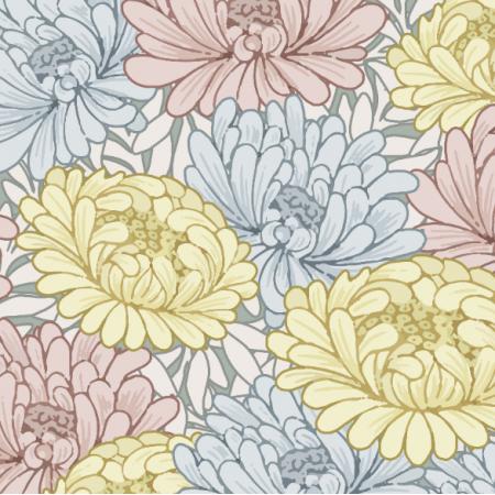 Fabric 25136   pastel flowers