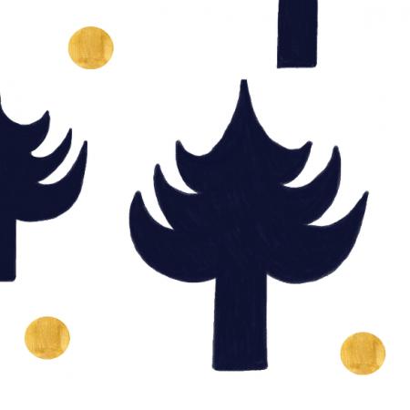 Fabric 25138 | Materiał w choinki