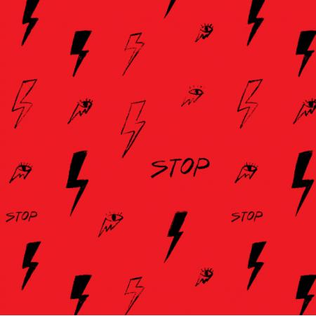 Tkanina 25166 | Strajk kobiet Czarna Błyskawica Oko kobiety Stop