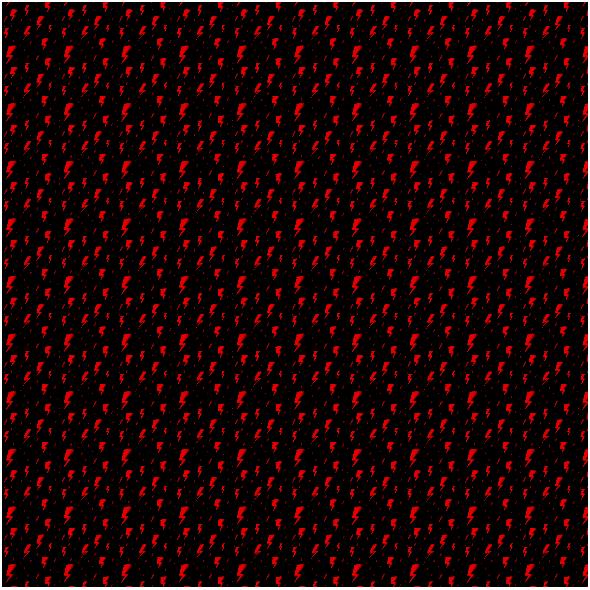 Tkanina 25167 | Strajk kobiet Czerwona Błyskawica na czarnym tle