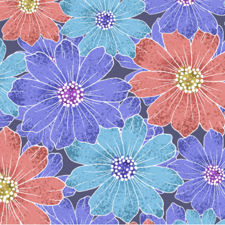 Fabric 25172 | Colorful delicate pattern