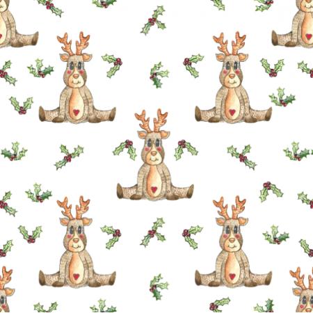 Tkanina 25182 | Christmas reindeer/2020