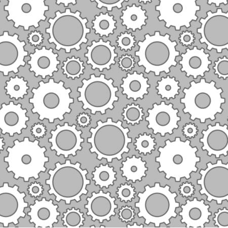 Fabric 25223 | koła zębate, zębatki na szarym tle. bezszwowy wzór
