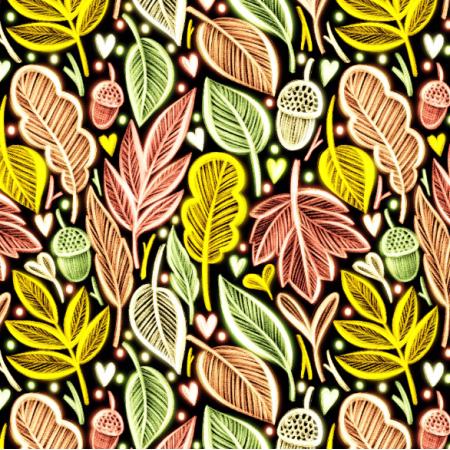 Tkanina 25225 | autumn leaves