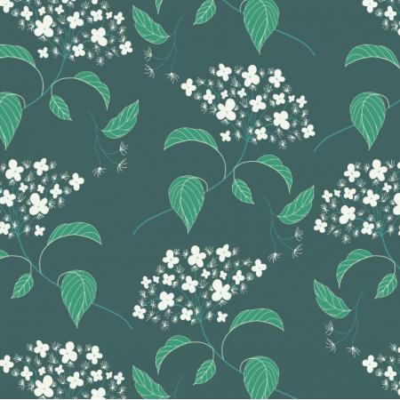 Tkanina 25394 | Elderflower emerald