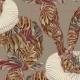 Tkanina 25449 | Monstera's Hare 3 khaki