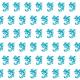 Tkanina 25542   Dragon white turquoise pattern 2