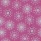 Fabric 25648 | Srebrne Brokatowe płatki śniegu na ciemno-różowym tle