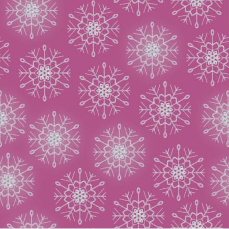 25648 | Srebrne Brokatowe płatki śniegu na ciemno-różowym tle