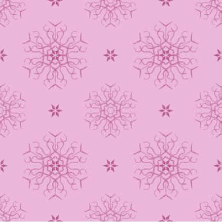 25649 | Ciemno-różowe Brokatowe płatki śniegu na różowym tle