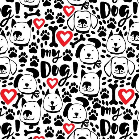 Fabric 25699 | I love my dog