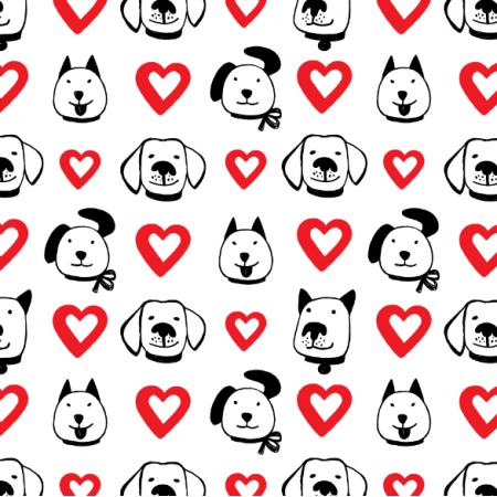 Fabric 25704 | Dog faces