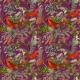Fabric 25715 | CHRISTMAS BIRDS - PURPLE