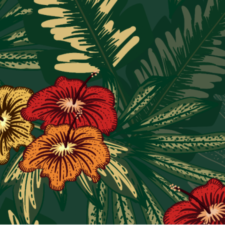 Fabric 25761 | tropical flowers