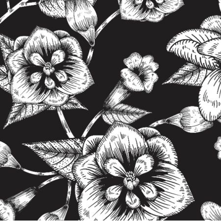 Fabric 25763 | MAGNOLIA BLACK