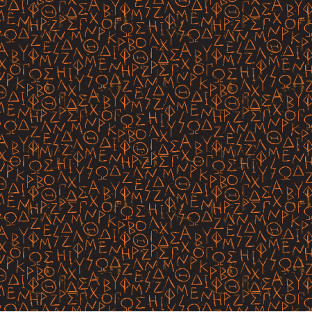 Fabric 2717 | greek alphabet