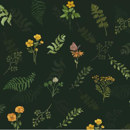 25806 | Liście i kwiaty leśne