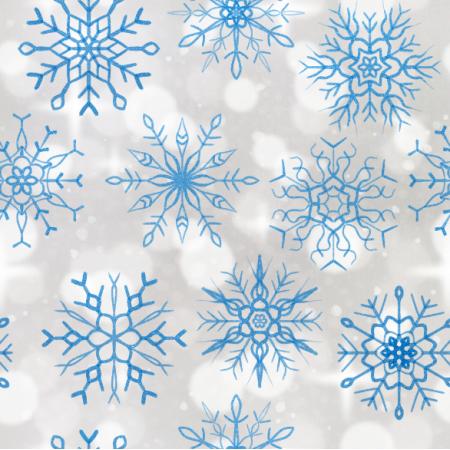 Fabric 25810 | niebieskie Brokatowe płatki śniegu