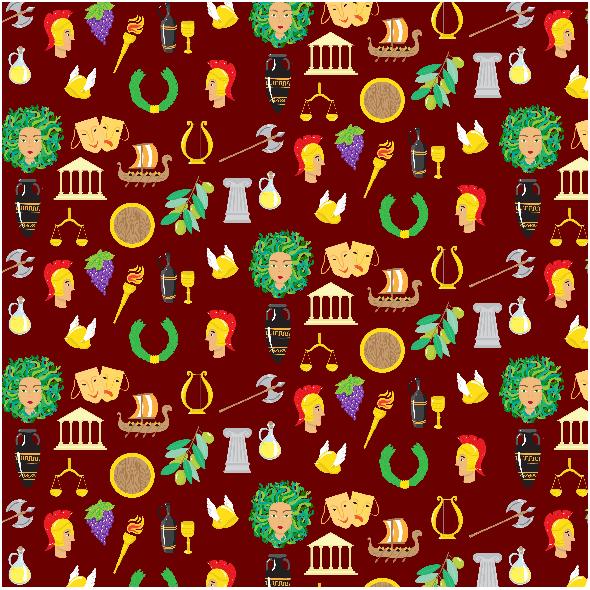 Fabric 2719 | Ancient greek pattern