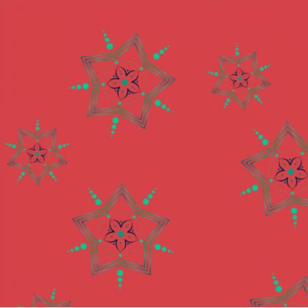 Tkanina gwiazdy czerwień0