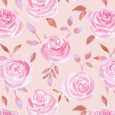 26021 | Różowe róże na pastelowym tle. Akwarela