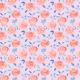 Fabric 26022 | Czerwone róże na liliowym tle. Akwarela