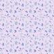Fabric 26050   Akwarelowe liście na liliowym tle.