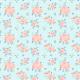 Fabric 26118 | POMARAŃCZOWE RÓŻE NA NIEBIESKIM TLE. AKWARELA