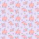 Fabric 26141   CZERWONE RÓŻE NA LILIOWYM TLE. AKWARELA