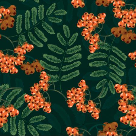 Fabric 26238 | JARZĘBINA POMARAŃCZOWA
