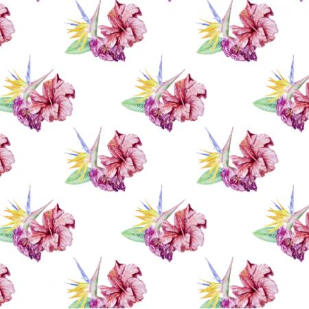Fabric 26326 | czerwony i żółty kwiat. akwarelowe