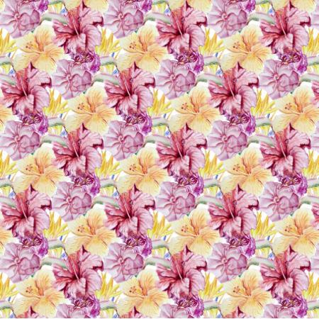 26328 | akwarelowe żółto czerwone kwiaty