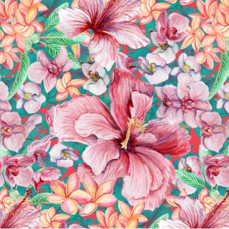 26333 | tropikalne kwiaty akwarelą