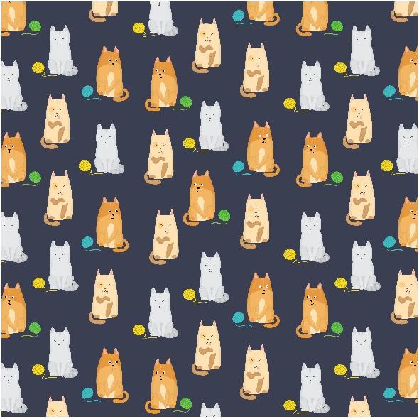 Tkanina 2768 | Cats