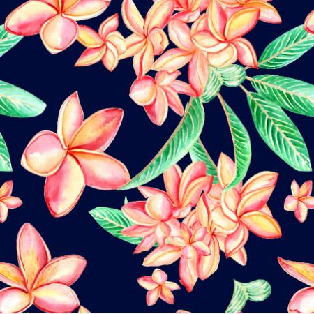 Fabric 26336 | pomarańczowe kwiaty olarium