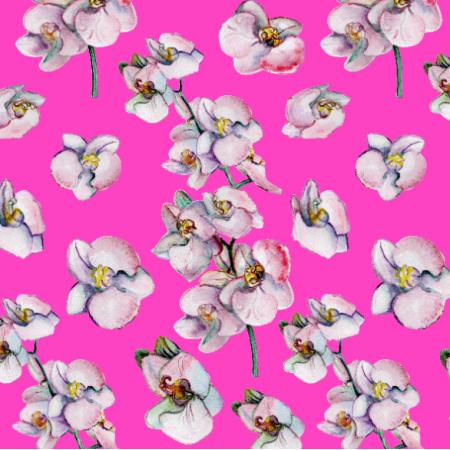 Tkanina 26337 | kwiat orchidei